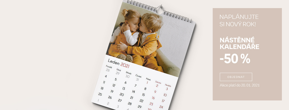 Nástěnné kalendáře -50 %
