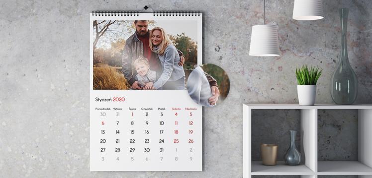 Kalendarze ścienne premium na papierze fotograficznym