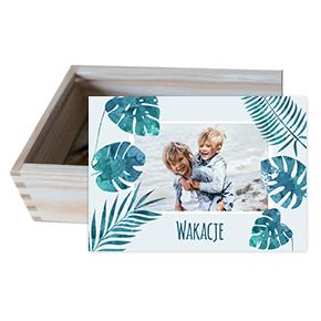 Pudełko drewniane - Tropikalna przygoda