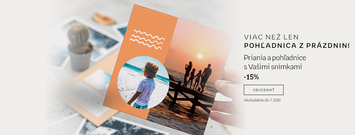 Přání a pohlednice s Vašimi snímky -15 %