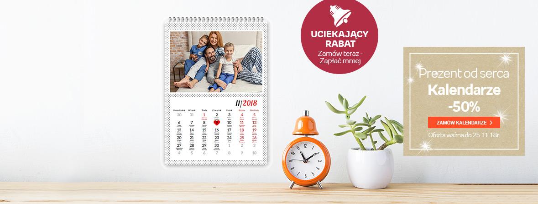 Kalendarze z Twoimi zdjęciami -50%