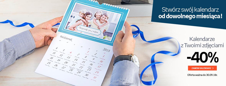 Kalendarze z Twoimi zdjęciami -40%