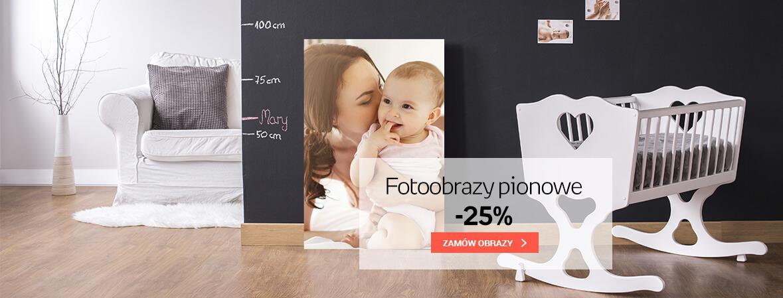 Fotoobrazy pionowe - 25%