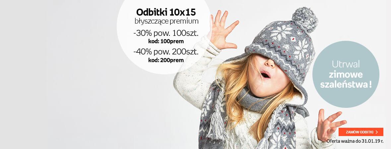 Odbitki 10x15 błyszczące premium do - 40%